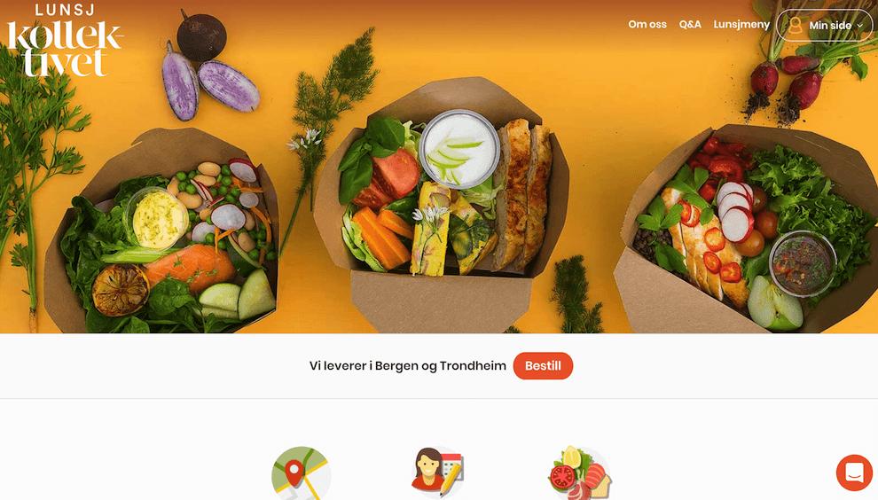 Lunsjkollektivet nettside