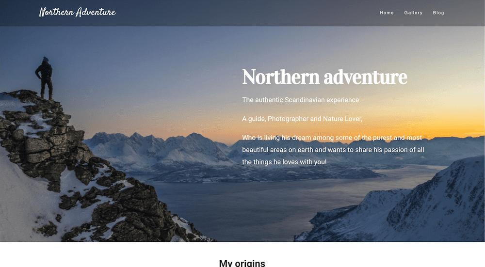 Northern adventure nettside